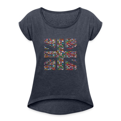 The Union Hack - Women's T-Shirt with rolled up sleeves