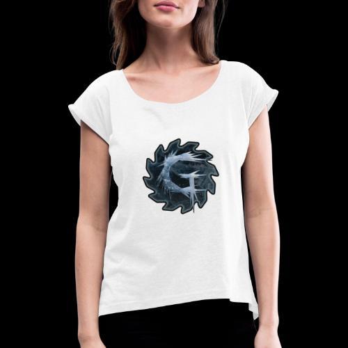 Glimmer logo 2019 v2 - T-skjorte med rulleermer for kvinner