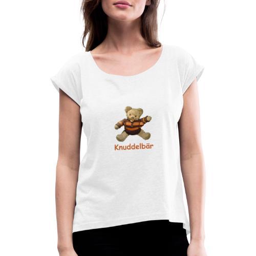 Teddybär Knuddelbär Schmusebär Teddy orange braun - Frauen T-Shirt mit gerollten Ärmeln