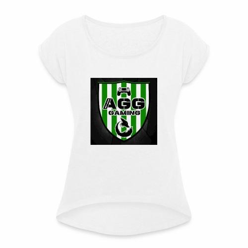 AGG Gaming - Frauen T-Shirt mit gerollten Ärmeln
