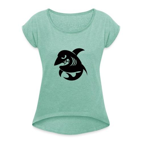 S & T - C. Gaucini - Frauen T-Shirt mit gerollten Ärmeln