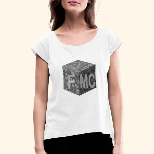 FingMC Logo - Frauen T-Shirt mit gerollten Ärmeln