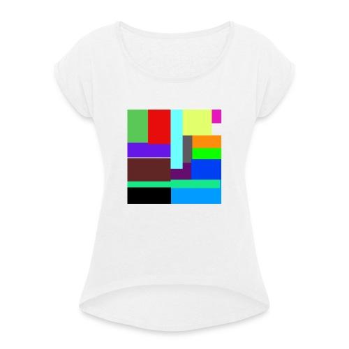 COLOR MIX - Maglietta da donna con risvolti