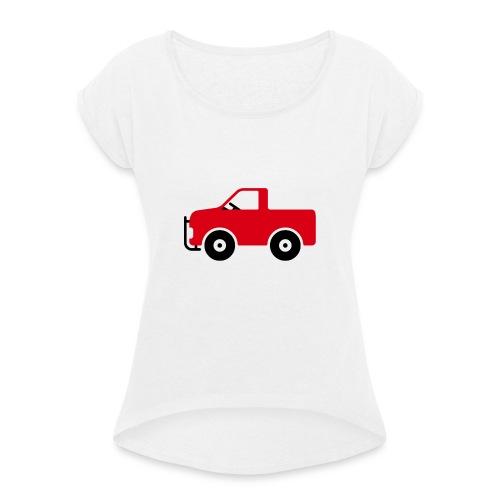 Pick-Up Comic - Frauen T-Shirt mit gerollten Ärmeln