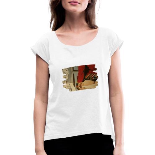 isitlove? - Frauen T-Shirt mit gerollten Ärmeln