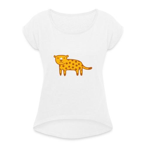 Kinder Comic - Jaguar - Frauen T-Shirt mit gerollten Ärmeln