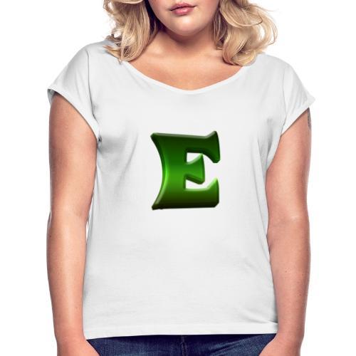 Exodise Hoodie - T-shirt med upprullade ärmar dam