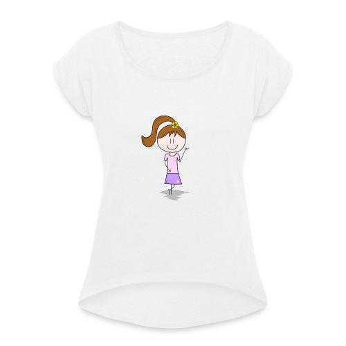 Lotti - Frauen T-Shirt mit gerollten Ärmeln