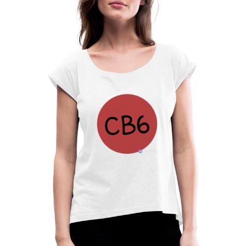 CB6 - Frauen T-Shirt mit gerollten Ärmeln
