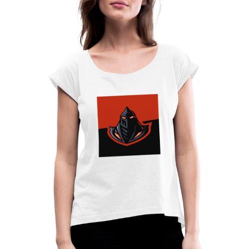 DeF Clan logo - T-skjorte med rulleermer for kvinner