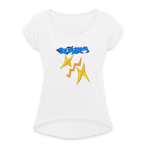 Bliksem - Vrouwen T-shirt met opgerolde mouwen
