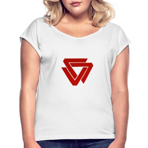 LOGO P2W #3 - T-shirt à manches retroussées Femme