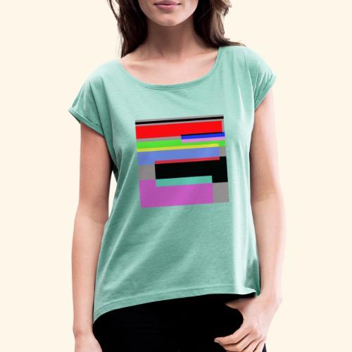 Artistico27 - Maglietta da donna con risvolti
