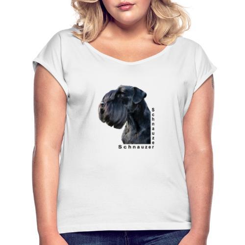 Schnauzer che passione! - Maglietta da donna con risvolti