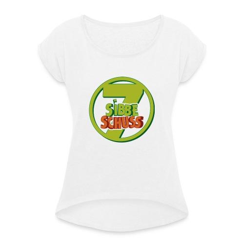 300dpi Logo sibbeschuss 2019 - Frauen T-Shirt mit gerollten Ärmeln