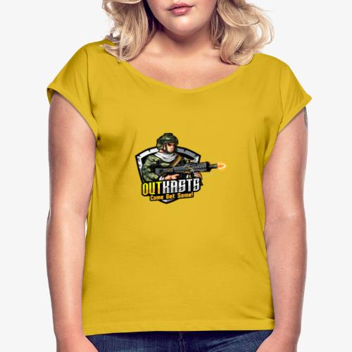 OutKasts [OKT] Logo 2 - Women's T-Shirt with rolled up sleeves