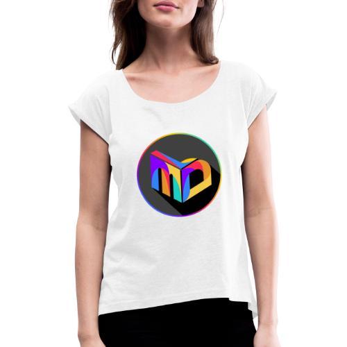 New MDL Logo - Frauen T-Shirt mit gerollten Ärmeln