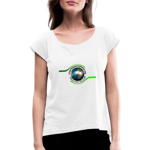 STOP5G - Women's T-Shirt with rolled up sleeves
