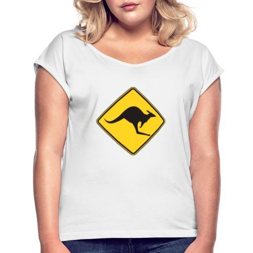 warning - Camiseta con manga enrollada mujer