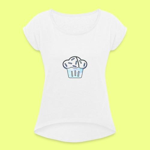 Pastel - Camiseta con manga enrollada mujer