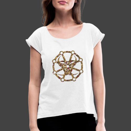 Finkianer Rune 1 - Frauen T-Shirt mit gerollten Ärmeln