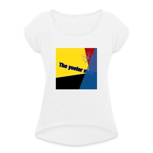 yeet - T-shirt med upprullade ärmar dam