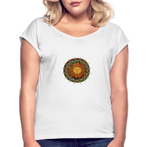 The Sun In Me - Frauen T-Shirt mit gerollten Ärmeln