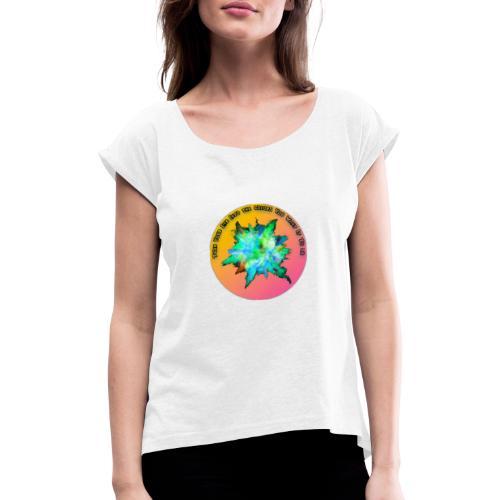 Colors - Frauen T-Shirt mit gerollten Ärmeln