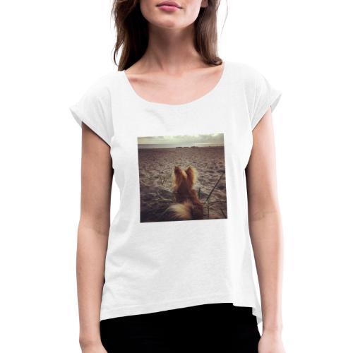 Tina2020 - Frauen T-Shirt mit gerollten Ärmeln