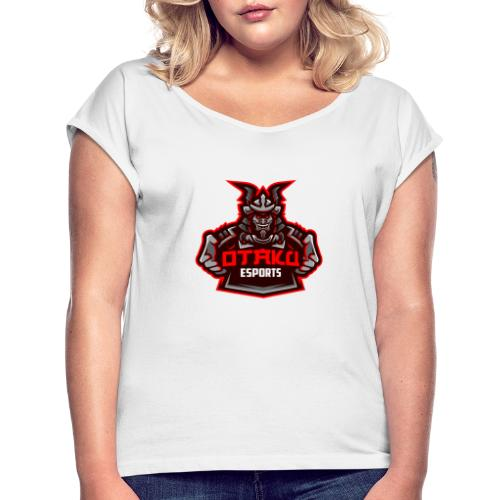 Otaku Logo - T-shirt med upprullade ärmar dam