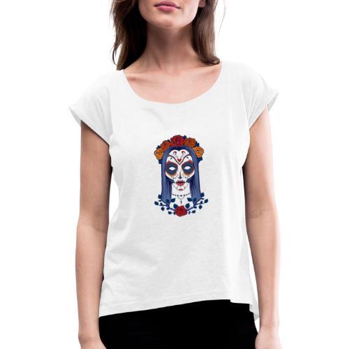 Skull 4 - Maglietta da donna con risvolti