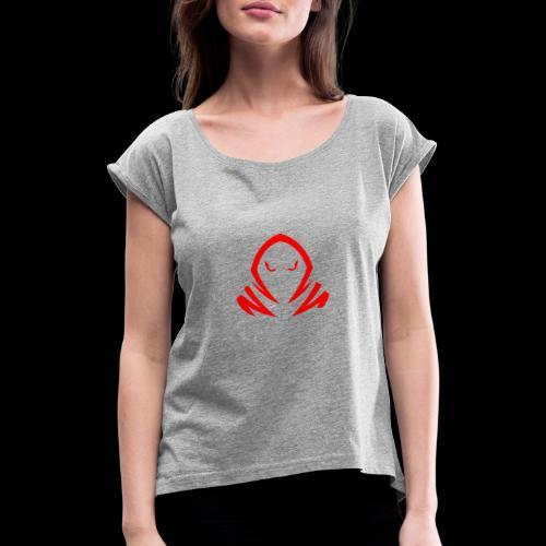 New Official TagX Logo - Naisten T-paita, jossa rullatut hihat
