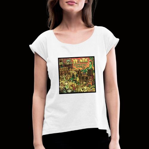 String Up My Sound Artwork - Women's T-Shirt with rolled up sleeves