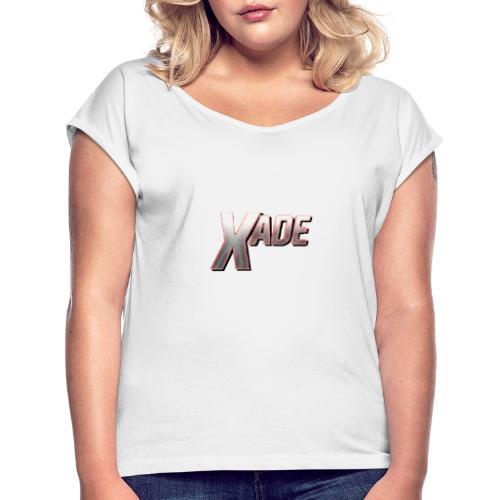 XaD3 LoGo - Frauen T-Shirt mit gerollten Ärmeln
