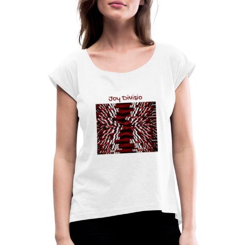 Joy Divisio - Camiseta con manga enrollada mujer