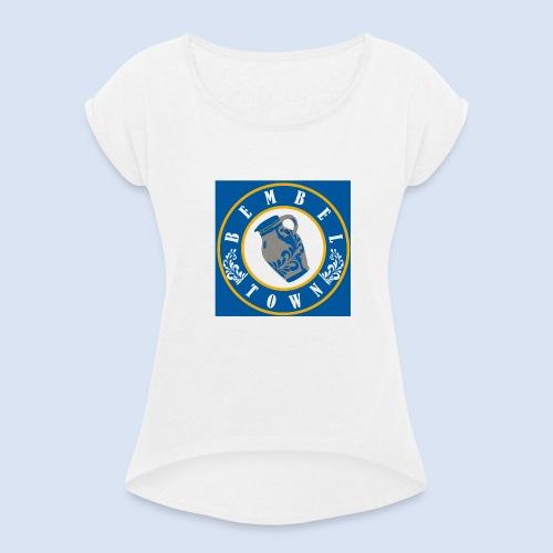 Quadart Bembel - Bembeltown Design - Frauen T-Shirt mit gerollten Ärmeln