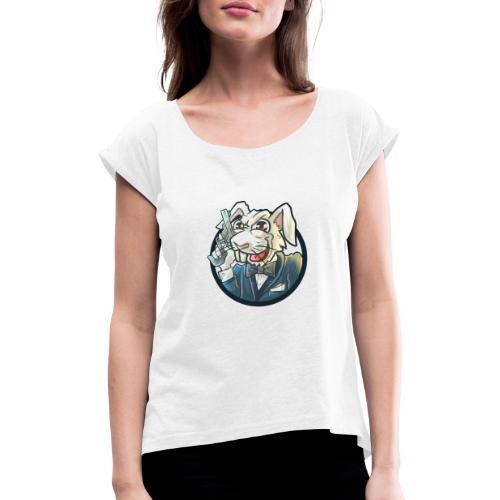 BUNNY - Frauen T-Shirt mit gerollten Ärmeln