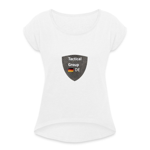 Logopit 1582664968584 - Frauen T-Shirt mit gerollten Ärmeln