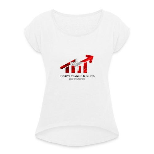 Geneva - T-shirt à manches retroussées Femme