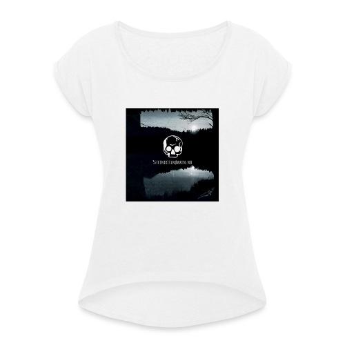 Hodeskalle - 3 steiner til nøkkelen - T-skjorte med rulleermer for kvinner