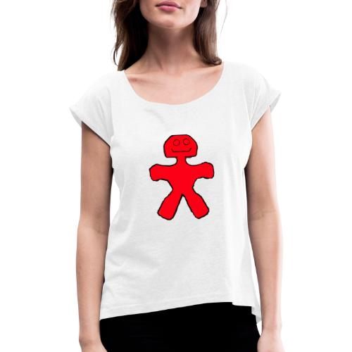 Blackie - Dame T-shirt med rulleærmer