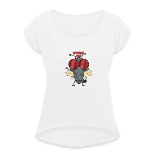 FLY wussp - Frauen T-Shirt mit gerollten Ärmeln