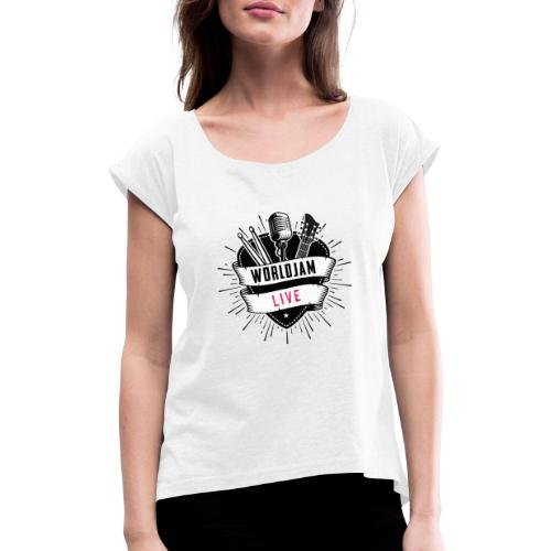 WorldJam Live - Women's T-Shirt with rolled up sleeves