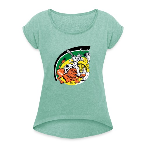 fortunaknvb - Vrouwen T-shirt met opgerolde mouwen
