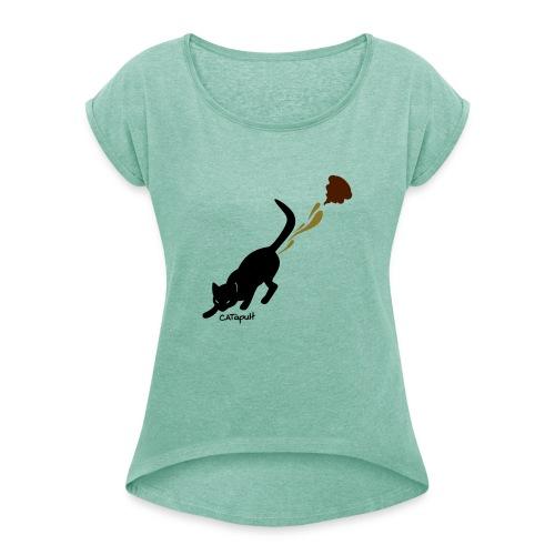 Catapult - Vrouwen T-shirt met opgerolde mouwen