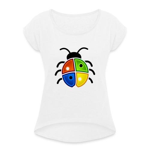 WINDOWS BUG/VIRUS - Frauen T-Shirt mit gerollten Ärmeln