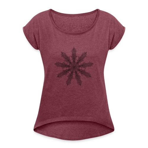 Magic Star Tribal #4 - Women's T-Shirt with rolled up sleeves