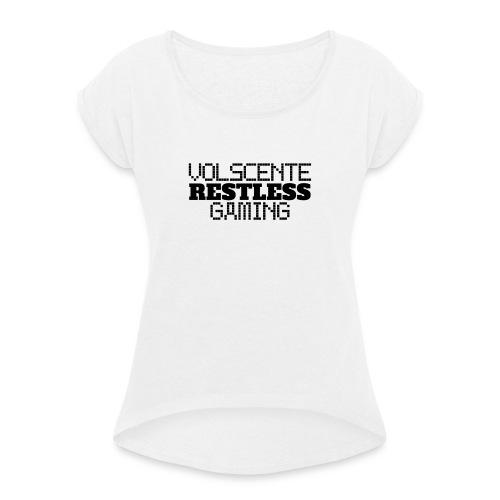 Volscente Restless Logo B - Maglietta da donna con risvolti