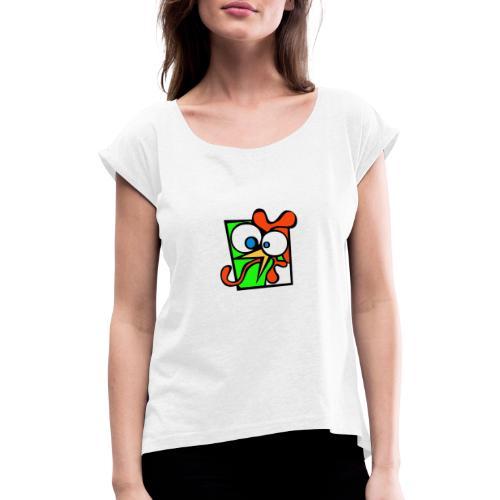 coock - Maglietta da donna con risvolti