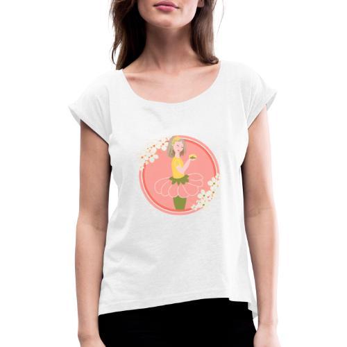 Flowers' Dreamgirl - T-shirt à manches retroussées Femme